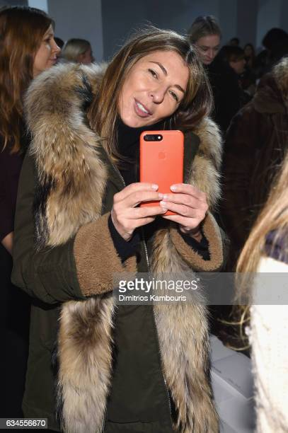 Nina Garcia attends the Calvin Klein Collection Front Row during New York Fashion Week on February 10 2017 in New York City
