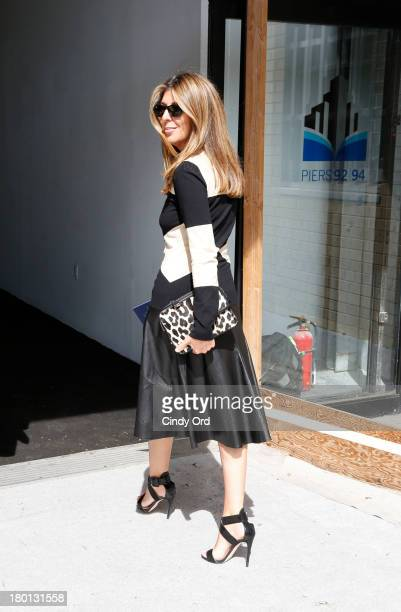 Nina Garcia attends the Tommy Hilfiger Women's fashion show during MercedesBenz Fashion Week Spring 2014 at Pier 94 on September 9 2013 in New York...