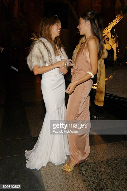 Nina Garcia Conrod and Allison Sarofim attend The Winter Dance 2006 Desert Oasis Sponsored by VERSACE at The American Museum of Natural History on...
