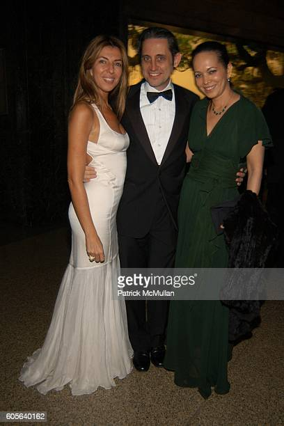 Nina Garcia Conrod Riccardo Gambaccini and Miguelina Gambaccini attend The Winter Dance 2006 Desert Oasis Sponsored by VERSACE at The American Museum...