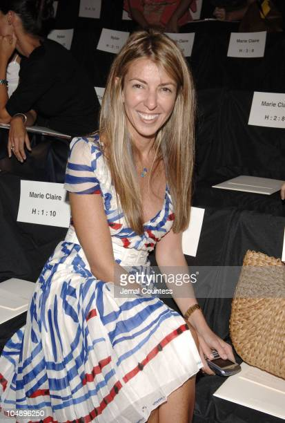 Nina Garcia during Olympus Fashion Week Spring 2006 BCBG Max Azria Front Row and Backstage at The Tent in New York City New York United States