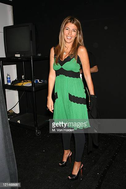 Nina Garcia during Olympus Fashion Week Spring 2007 Peter Som Backstage and Front Row at Bryant Park Tent in New York New York United States