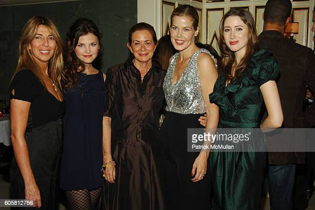 Nina Garcia Ginnifer Goodwin Rossella Jardini Mary Alice Stephenson and Alexis Bryan attend BERGDORF GOODMAN hosts Moschino Dinner in honor of...