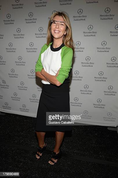 Nina Garcia is seen around Lincoln Center Day 1 MercedesBenz Fashion Week Spring 2014 at Lincoln Center for the Performing Arts on September 5 2013...