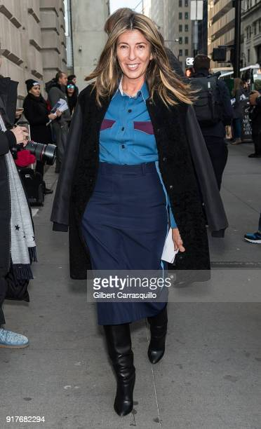 Nina Garcia is seen arriving to the Oscar de la Renta fashion show during New York Fashion Week at The Cunard Building on February 12 2018 in New...