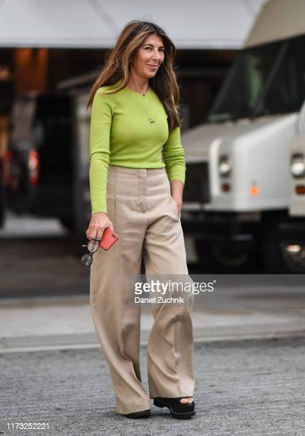 Nina Garcia is seen outside the Jason Wu show during New York Fashion Week S/S20 on September 08 2019 in New York City