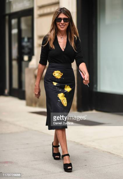 Nina Garcia is seen outside the Vera Wang show during New York Fashion Week S/S20 on September 10 2019 in New York City