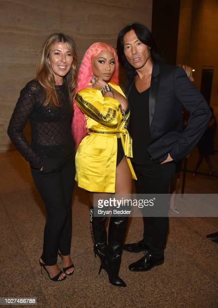 Nina Garcia Nicki Minaj and Stephen Gan attend as E ELLE IMG celebrate the KickOff To NYFW The Shows at The Pool on September 5 2018 in New York City