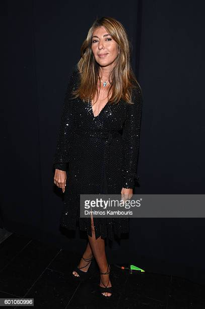 Nina Garcia poses backstage at the Project Runway fashion show during New York Fashion Week The Shows at The Arc Skylight at Moynihan Station on...