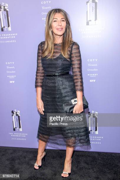 Nina Garcia wearing dress by Dolce Gabbana attends 2018 Fragrance Foundation Awards at Alice Tully Hall at Lincoln Center
