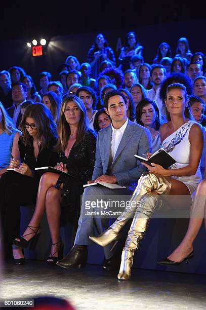 Nina Garcia Zac Posen and Heidi Klum attend the Project Runway fashion show during New York Fashion Week The Shows at The Arc Skylight at Moynihan...