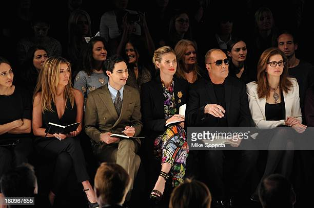 Nina Garcia Zac Posen Heidi Klum and designer Michael Kors attend the Project Runway Fall 2013 fashion show during MercedesBenz Fashion Week at The...