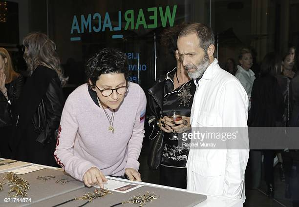 Nina Garduno and Roman Alanzo attend the Director's Circle celebration of the Wear LACMA Fall 2016 Collection with designs by Oliver Peoples Pam Gela...