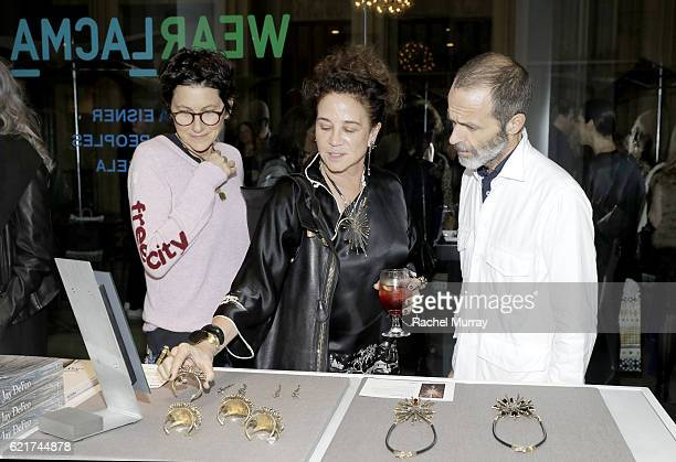 Nina Garduno Jewerly Designer Lisa Eisner and Roman Alanzo attend the Director's Circle celebration of the Wear LACMA Fall 2016 Collection with...