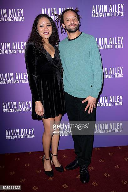 Nina Glover and Savion Glover attend Alvin Ailey American Dance Theater Opening Night Gala Benefit 'An Evening of Ailey and Jazz' at New York City...