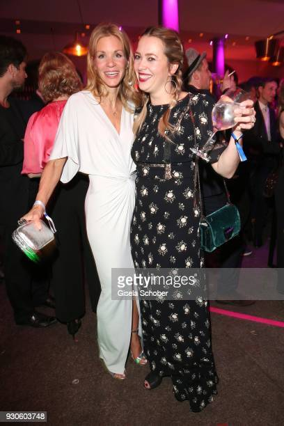 Nina Gnaedig and Laura Osswald during the BUNTE BMW Festival Night 2018 on the occasion of the 68th Berlinale International Film Festival Berlin at...