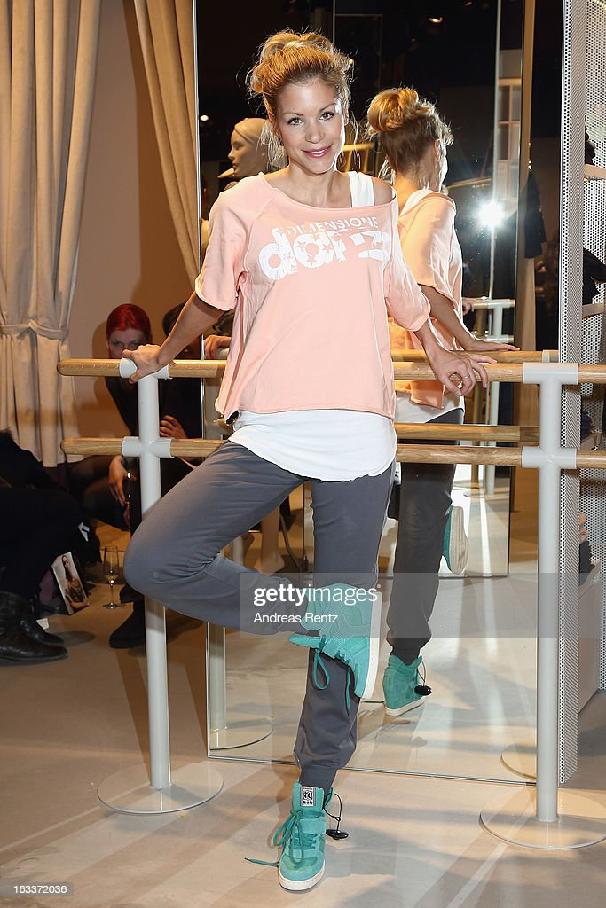 Nina Gnaedig attends the 'Dimensione Danza' - Berlin store opening on March 8, 2013 in Berlin, Germany.