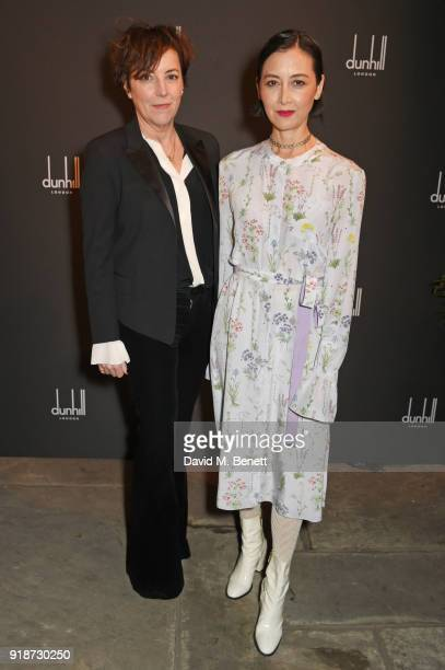 Nina Gold and Carmen Cuba attend the Dunhill GQ preBAFTA filmmakers dinner and party cohosted by Andrew Maag Dylan Jones at Bourdon House on February...