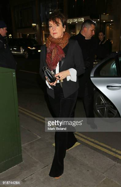Nina Gold arrives at the Dunhill GQ preBAFTA Filmmakers Dinner and Party Cohosted by Andrew Maag Dylan Jones on February 15 2018 in London England