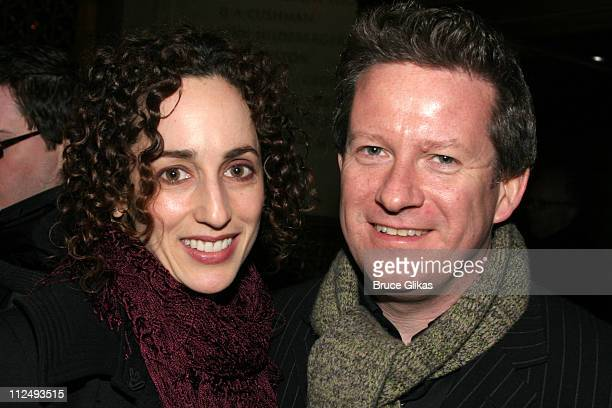 Nina Goldman and Matthew Bourne during Opening Night Party for Julius Caesar on Broadway at Gotham Hall in New York City New York United States