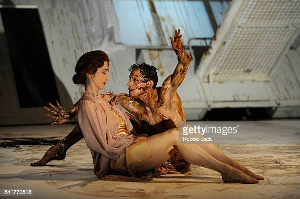 Nina Goldman as Mrs Samsa and Edward Watson as Gregor Samsa in a dancetheatre adaptation of Franz Kafka's The Metamorphosis choreographed and...