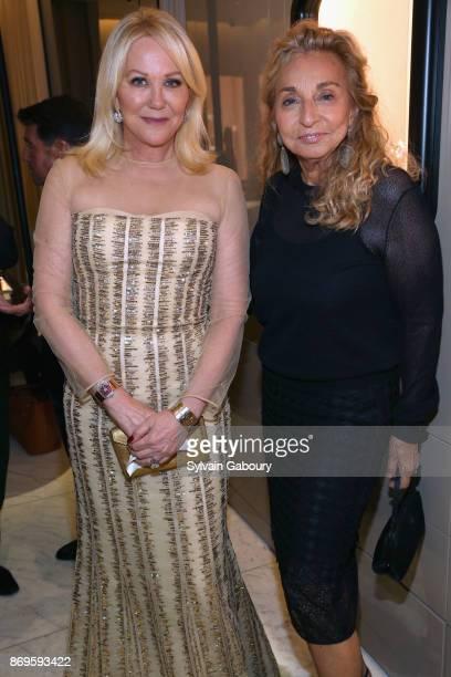 Nina Griscom and Eleanora Kennedy attend Quest Nirav Modi Champagne Reception on November 2 2017 in New York City