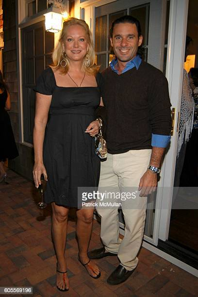 Nina Griscom and Leonel Piraino attend Bettina Zilkha Lucy and Euan Rellie Kick Off the Summer Dinner at Cain Estate on May 26 2006 in Southampton NY