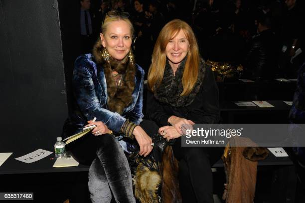 Nina Griscom and Nicole Miller attend the Dennis Basso Collection Show during New York Fashion Week The Shows at Skylight Clarkson Sq on February 14...