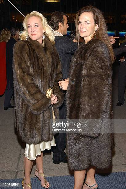 Nina Griscom and Sandy Pittman during The Return Of Maserati To America at Four Seasons Restaurant in New York City New York United States