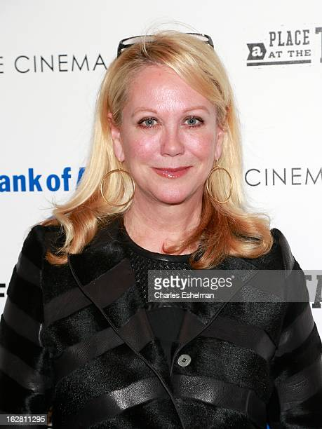 Nina Griscom arrives at Bank of America and Food Wine with The Cinema Society present a screening of 'A Place at the Table' at the Celeste Bartos...