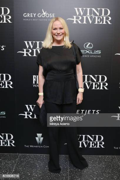 Nina Griscom attends The Weinstein Company with FIJI Grey Goose Lexus and NetJets screening of Wind River at The Museum of Modern Art on August 2...