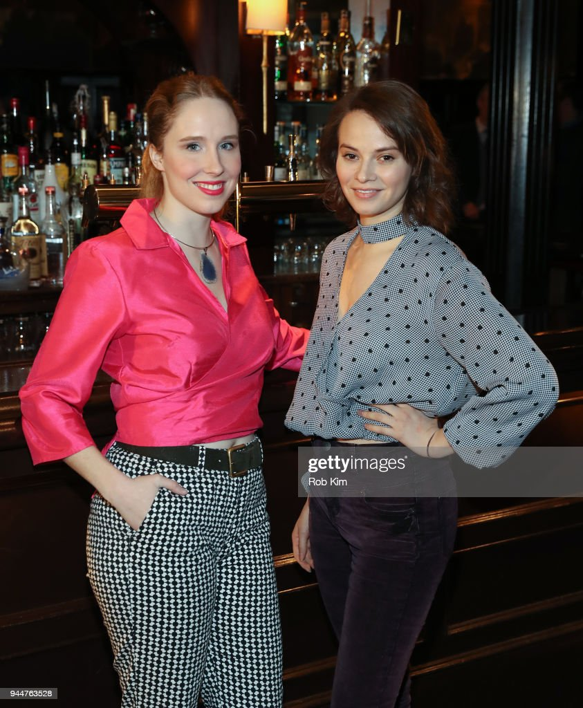 Nina Grollman (L) and Carolyn Braver attend 'The Iceman Cometh' Broadway Meet The Press at Delmonico's on April 11, 2018 in New York City.