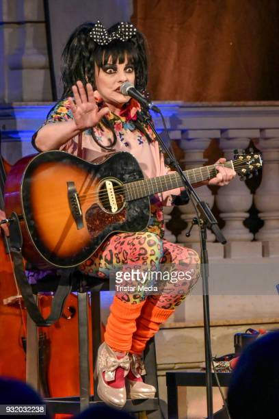 Nina Hagen during the exhibition opening of 'OH YEAH Popmusik in Deutschland' at Museum fuer Kommunikation on March 14 2018 in Berlin Germany