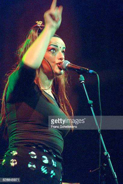 Nina Hagen singer and guitarist performs at the Paradiso on February 28th 2001 in Amsterdam Netherlands