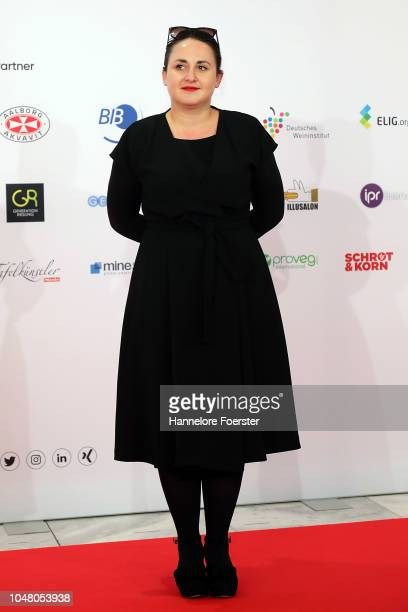 Nina Haratischwili, author, attends the opening ceremony of the 2018 Frankfurt Book Fair on October 9, 2018 in Frankfurt am Main, Germany. The 2018...