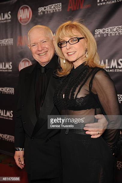 Nina Hartley and Ernest Greene arrives at the 2010 AVN Awards at the Pearl at The Palms Casino Resort on January 9 2010 in Las Vegas Nevada