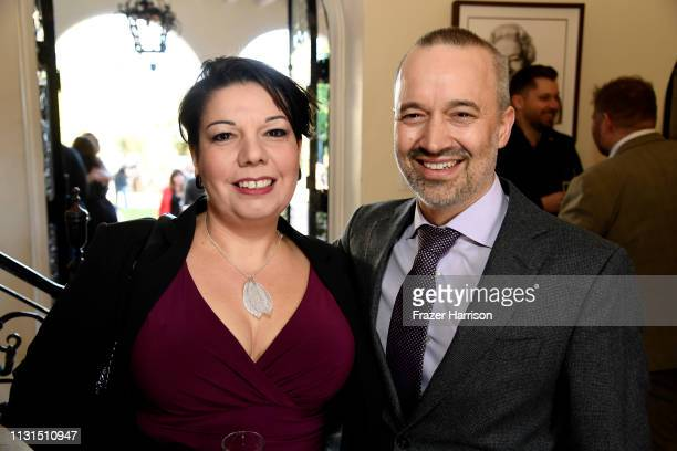 Nina Hartstone and John Warhurst attend the Reception For UK Oscars Nominees at British Consul General's Residence on February 22 2019 in Los Angeles...