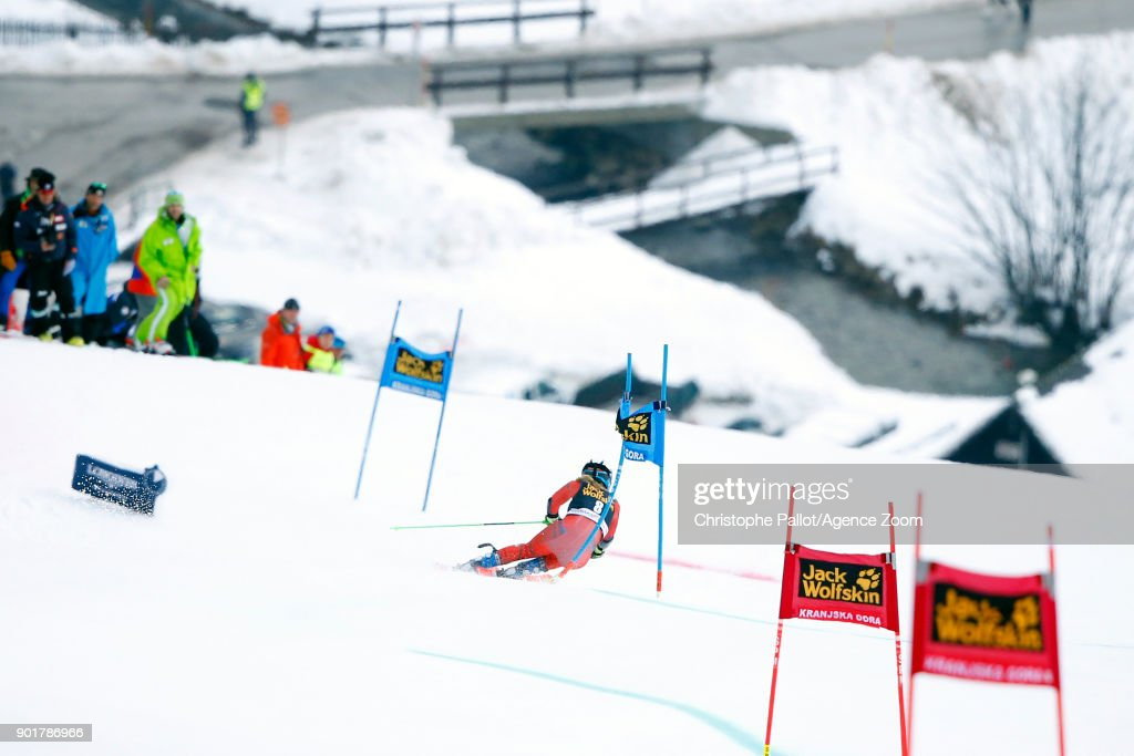 Nina Haver-loeseth of Norway competes during the Audi FIS Alpine Ski World Cup Women's Giant Slalom on January 6, 2018 in Kranjska Gora, Slovenia.