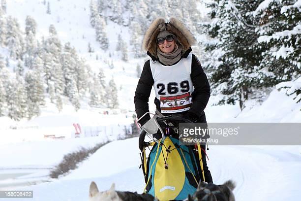 Nina Heik attends the Tirol Cross Mountain Sledge Dog Race at Kuehtai Castle on December 08 in Kuehtai Austria