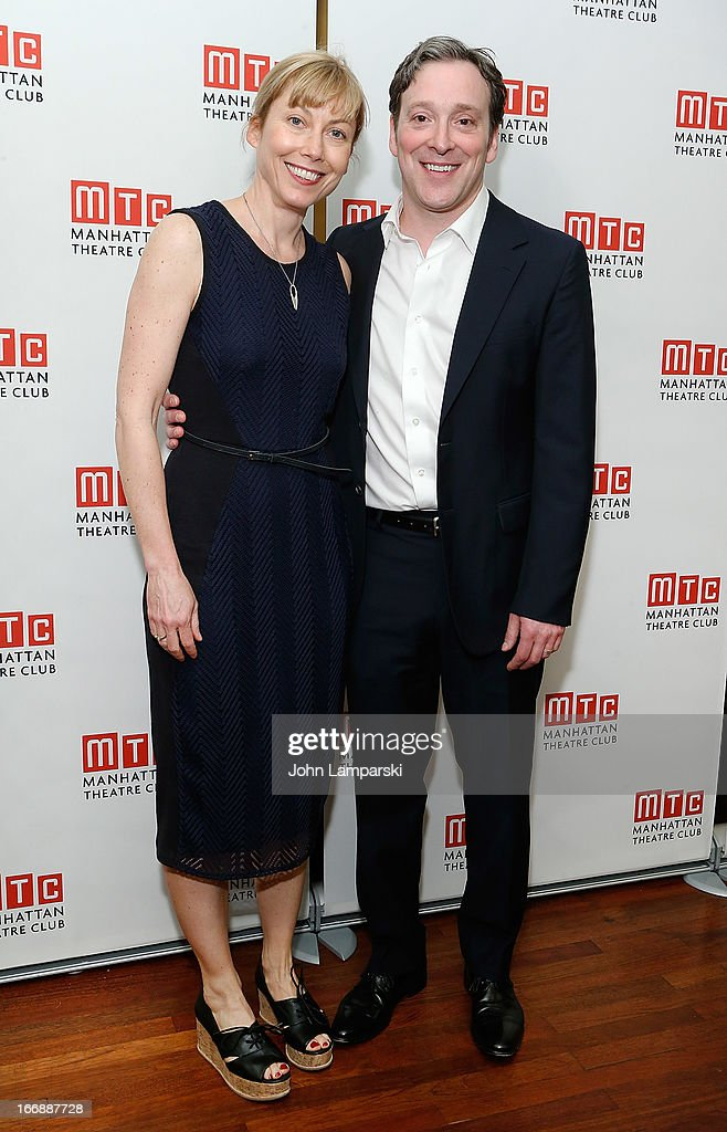 Nina Hellmund and Jeremy Shamos attend 'The Assembled Parties' Broadway Opening Night after party>> at the Copacabana on April 17, 2013 in New York City.