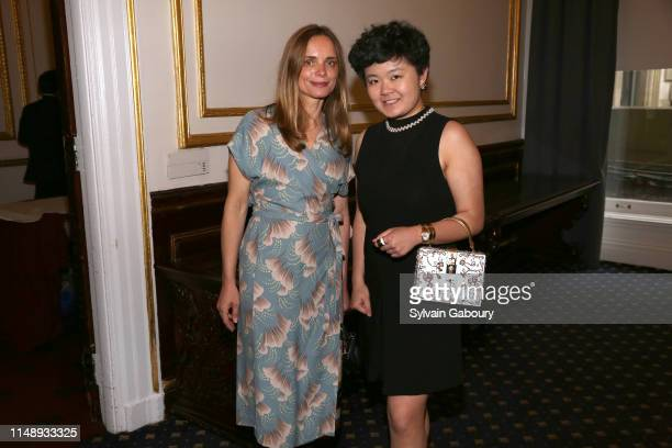 Nina Hollein and Helena Xuan attend AAF Cultural Luncheon at The Metropolitan Club on May 13, 2019 in New York City.
