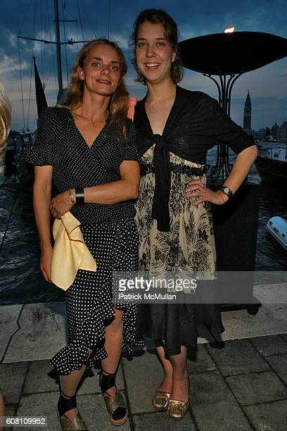 Nina Hollein and Kuptharina Husslein attend STELLA KESAEV Of STELLA ART FOUNDATION Hosts Cocoktail And Exclusive Concert Of Italian Blusesman PAOLO...