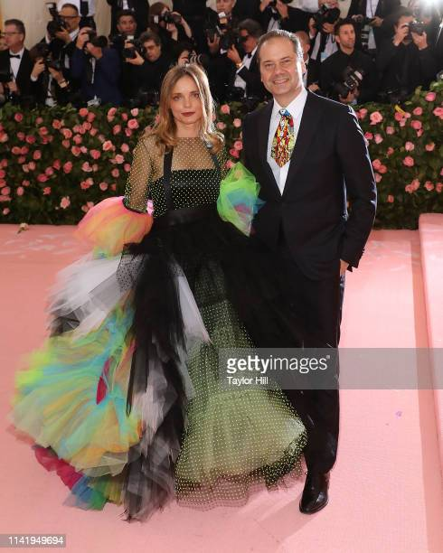 "Nina Hollein and Max Hollein attend the 2019 Met Gala celebrating ""Camp: Notes on Fashion"" at The Metropolitan Museum of Art on May 6, 2019 in New..."