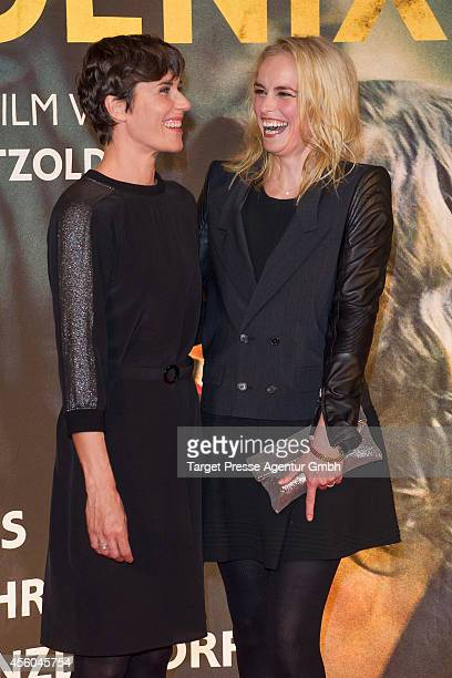 Nina Hoss and Nina Kunzendorf attend the 'Pheonix' premiere at Kino International on September 24 2014 in Berlin Germany