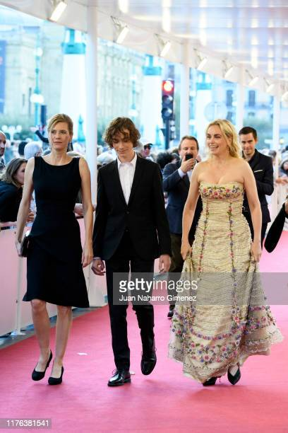 Nina Hoss, Ilja Monti and Ina Weise attend 'Dars Vorspiel ' premiere during 67th San Sebastian Film Festiva at Kursaal, San Sebastian on September...