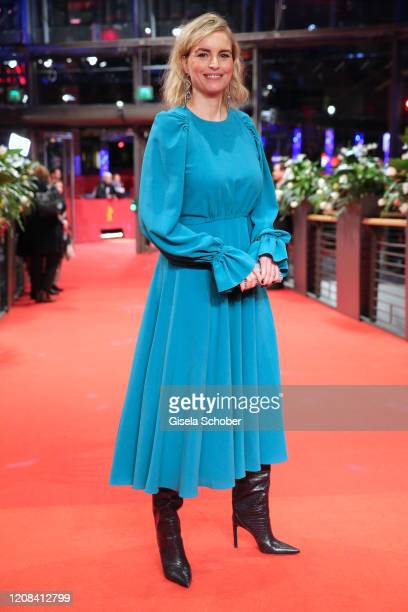 """Nina Hoss poses at the """"My Little Sister"""" premiere during the 70th Berlinale International Film Festival Berlin at Berlinale Palace on February 24,..."""