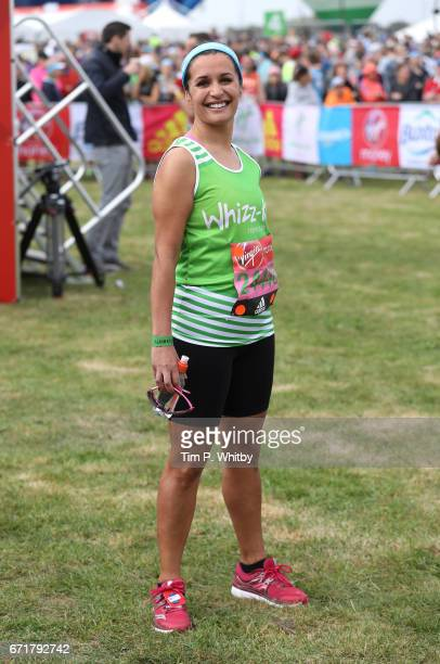 Nina Hossain poses for a photo ahead of participating in The Virgin London Marathon on April 23 2017 in London England