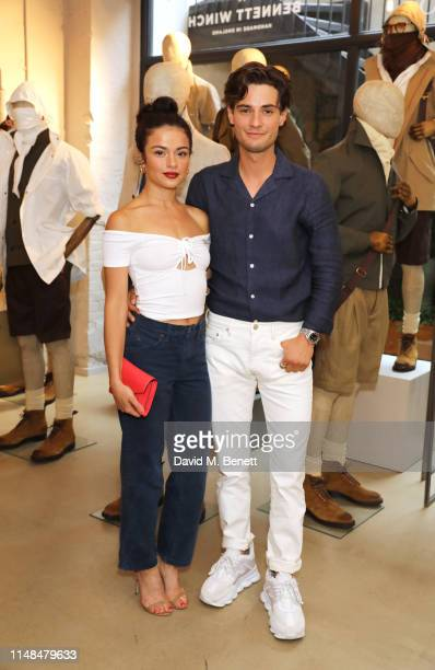 Nina Hosseinzadeh and Jack Brett Anderson attend The Best Of British party to celebrate men's style during London Fashion Week Men's June 2019 at...
