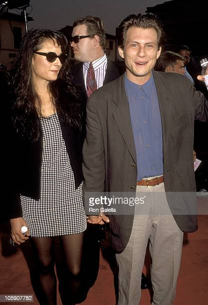 "Nina Huang and Christian Slater during ""Buffy the Vampire Slayer"" Los Angeles Premiere at Mann's Village Theatre in Westwood, California, United..."