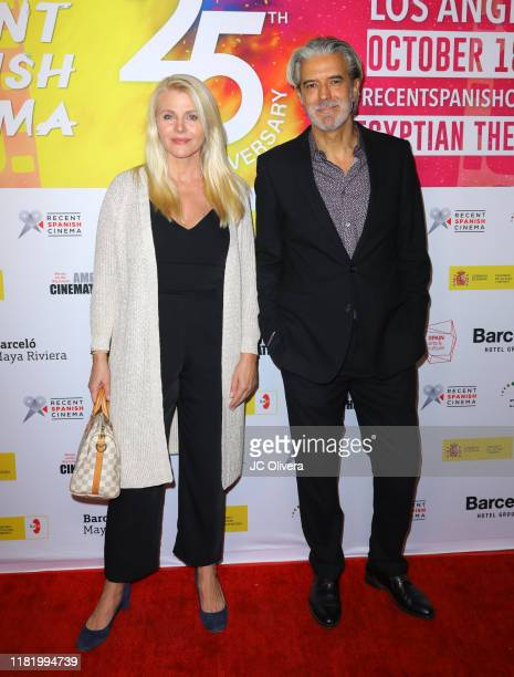 Nina Junot and Gonzalo Escudero attend the 25th Anniversary of Recent Spanish Cinema at the Egyptian Theatre on October 18 2019 in Hollywood...